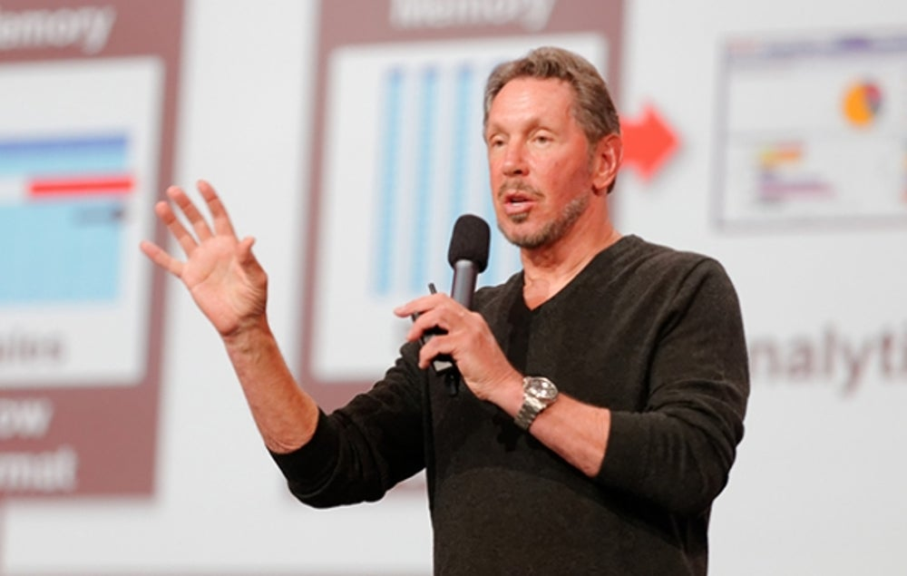 Oracle co-founder and CEO Larry Ellison