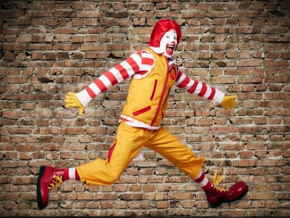 Giving Ronald McDonald a makeover.