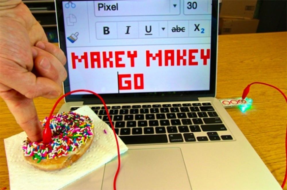Makey Makey GO, a circuit board that turns anything into a touchpad