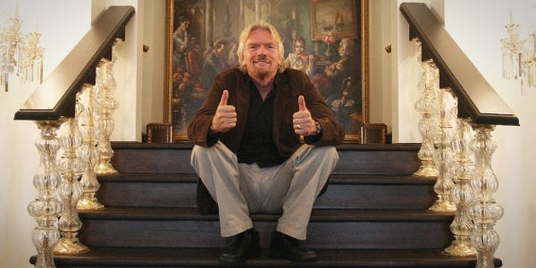 Richard Branson: Remember to be positive.