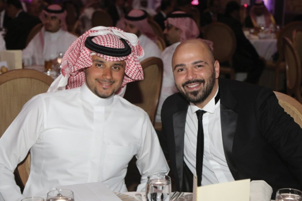 HRH Prince Khaled bin Alwaleed bin Talal with BNC Publishing Director Mr. Wissam Younane