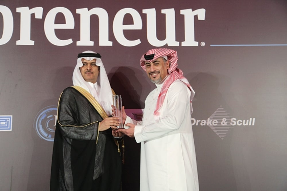 Dar Al-Arkan accepting the Real Estate Development Innovation award with Riyadh Chamber of Commerce and Industry, Vice Chairman of the board of directors, Mr. Khalid Abdulaziz S. Al-Mukairan
