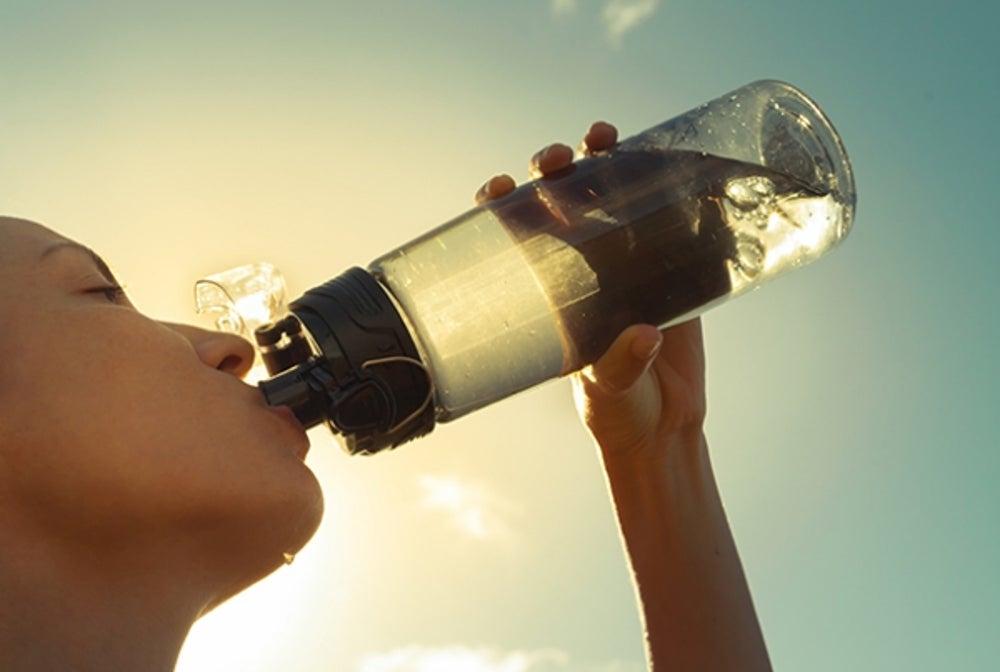 8. Drink water.