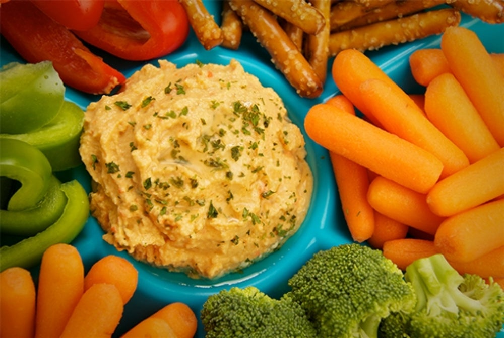 2. Hummus and Veggies