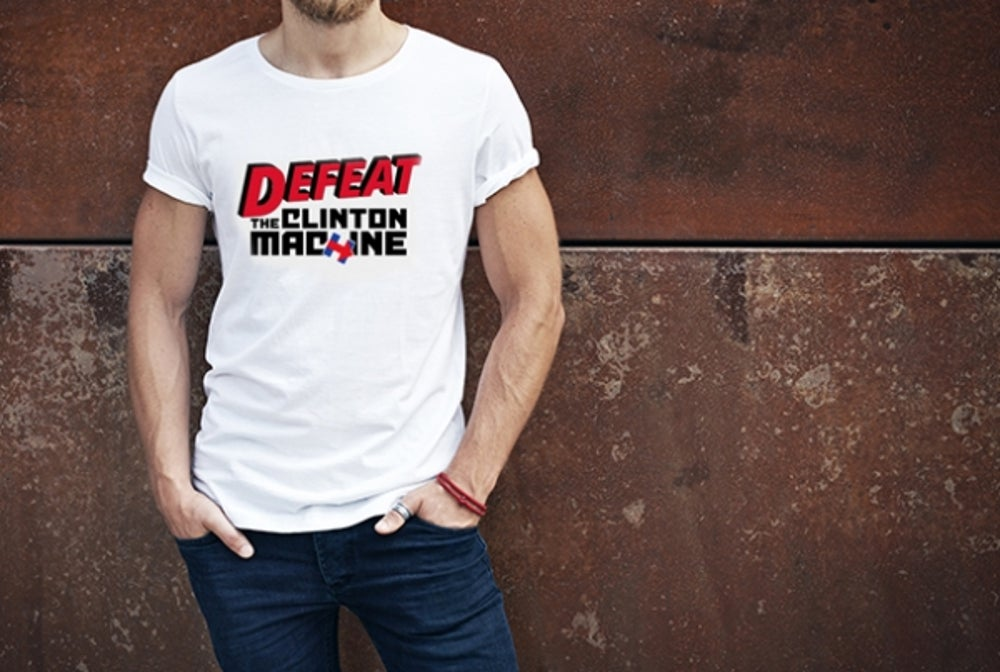 Mike Huckabee's 'Defeat the Clinton Machine' Shirt
