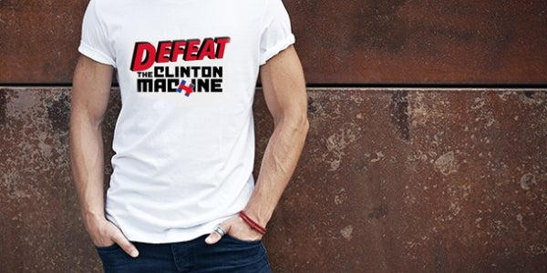 Mike Huckabee's 'Defeat the Clinton Machine' Shirt