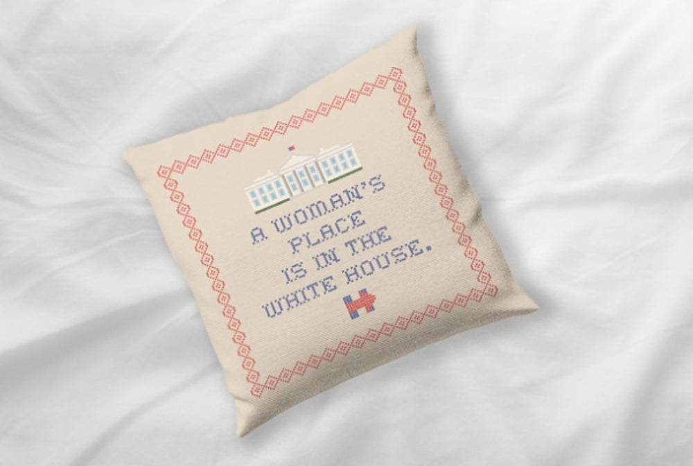 Hillary Clinton's Throw Pillow