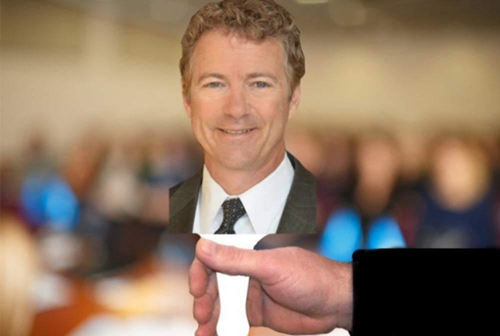 Rand Paul on a Stick