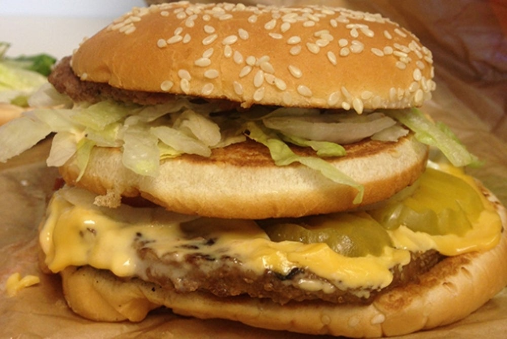 3. Combine to create the McWhopper Frankenburger.