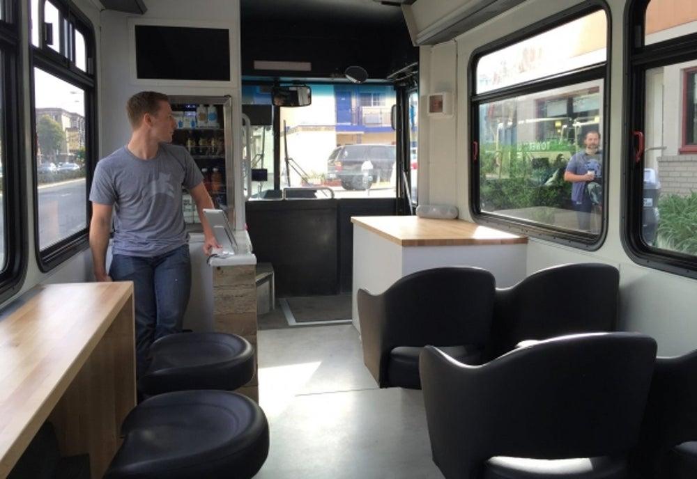 3. Inside the bus