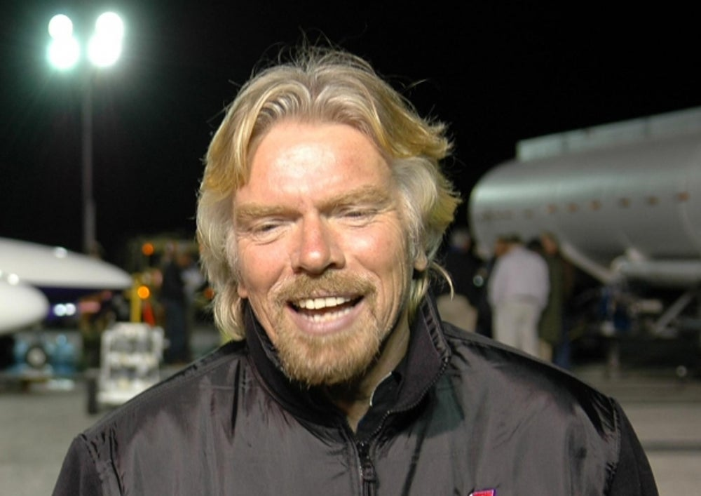 Richard Branson devotes 80% of his time to Virgin Unite, the charitable arm of the Virgin Group.
