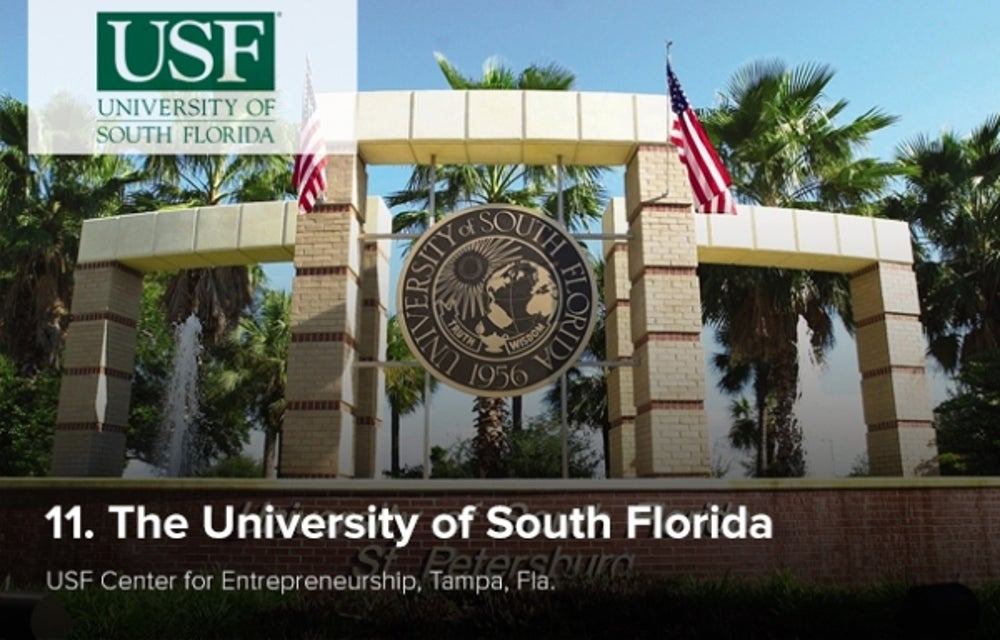 11. The University of South Florida