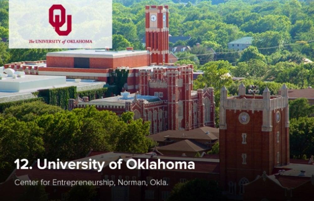 12. University of Oklahoma