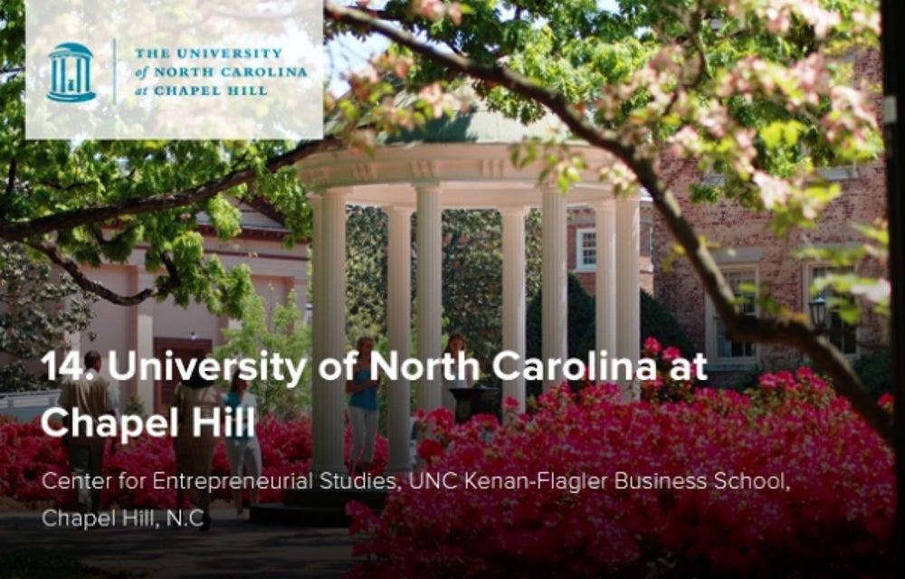 14. University of North Carolina at Chapel Hill