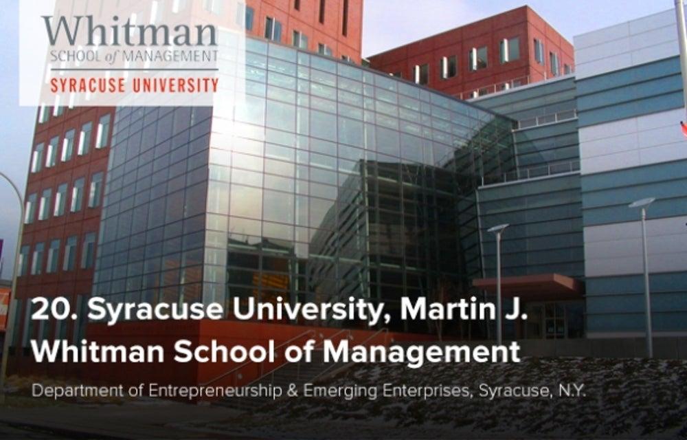20. Syracuse University