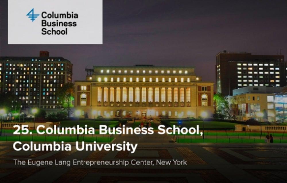 25. Columbia Business School