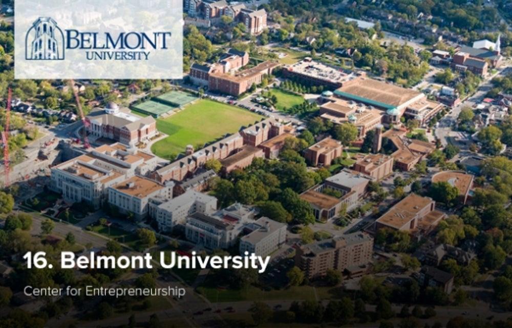 16. Belmont University