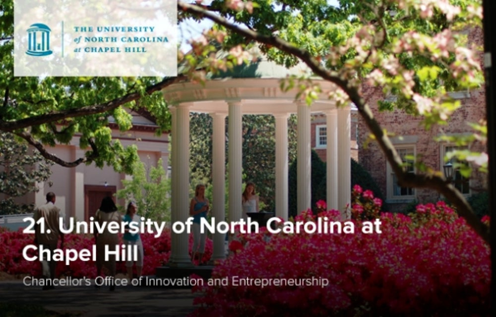 21. University of North Carolina at Chapel Hill