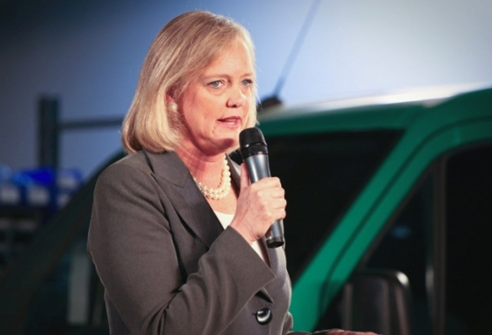 Meg Whitman, chairman, president and CEO of HP