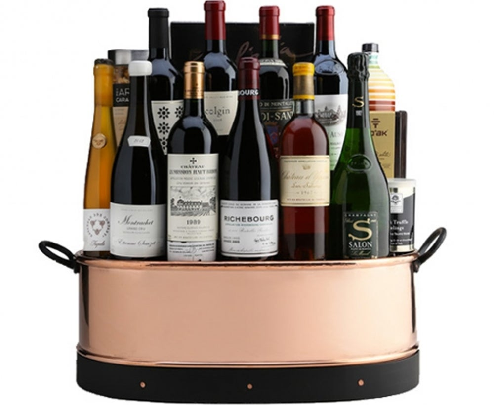 "3. A ""top of the world"" wine basket"