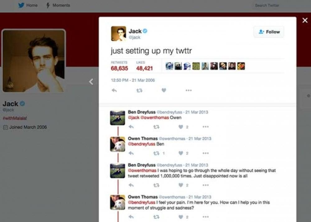5. The first tweet