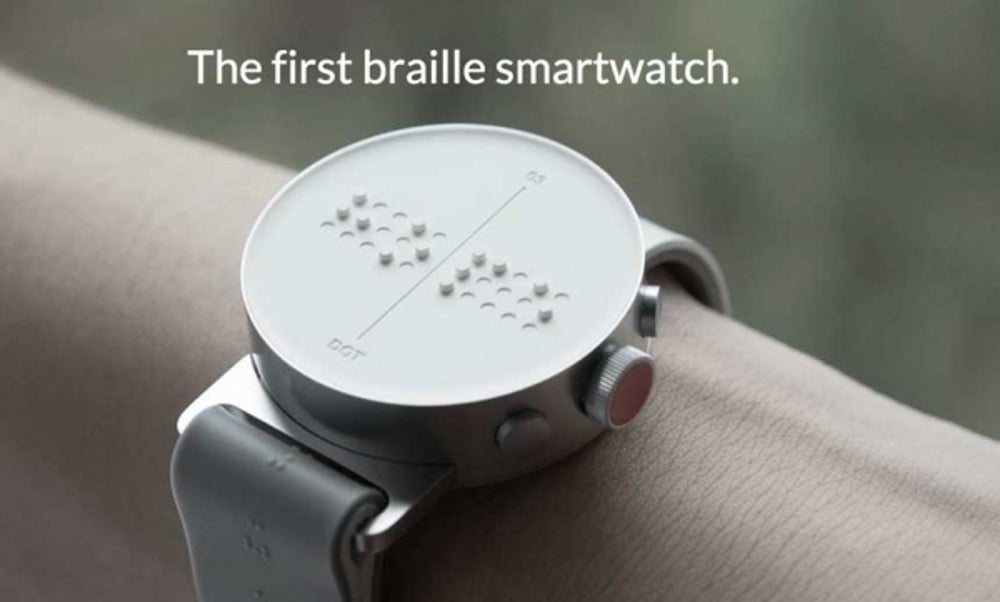 Dot Smartwatch with Braille