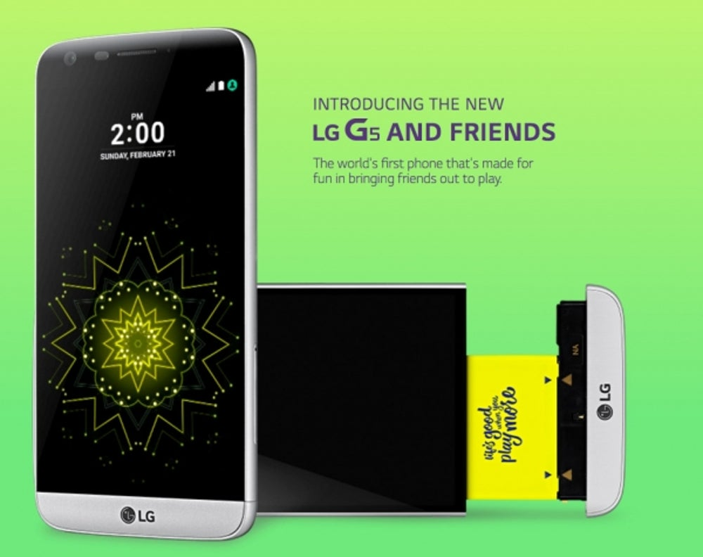 LG announces a new, modular smartphone.