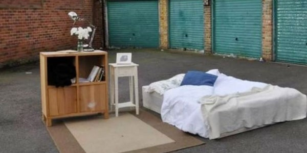 A parking lot bed