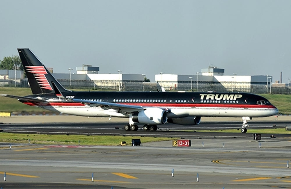 2. Donald Trump's private airplane