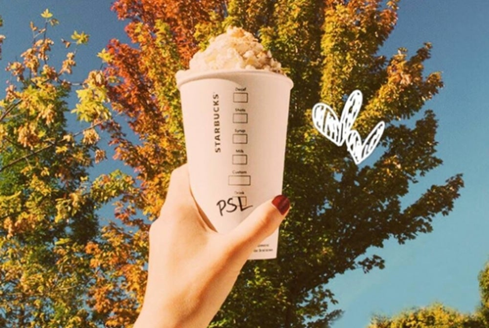 Fall: Starbucks' Pumpkin Spice Lattes