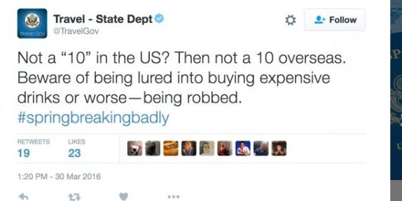 The U.S. State Department makes a bad joke.
