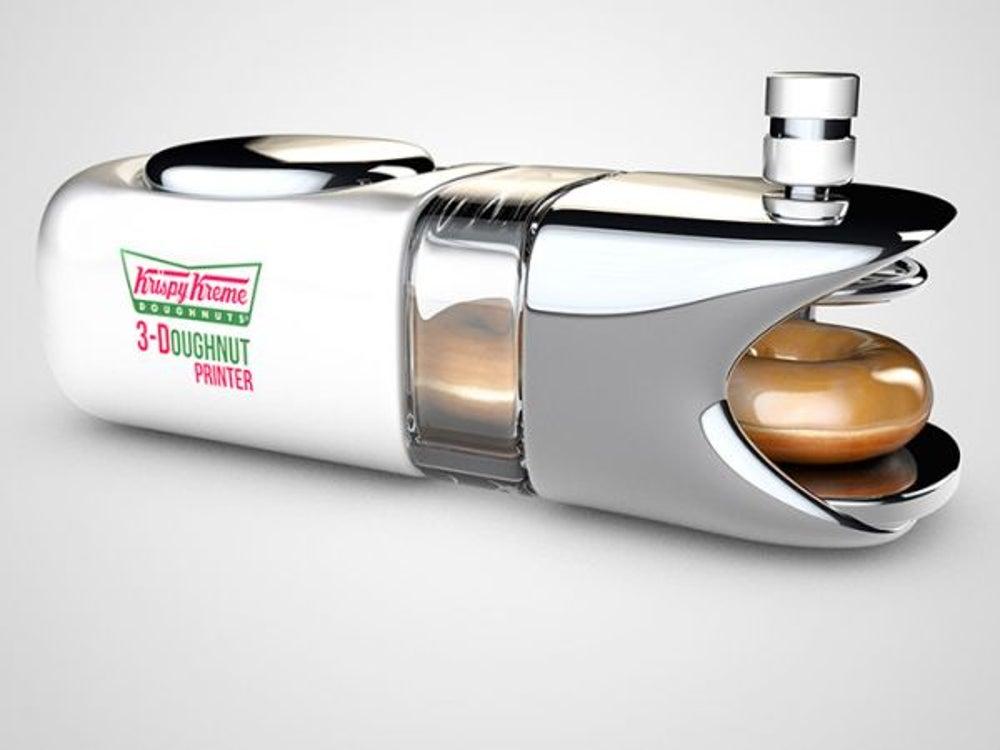7. Krispy Kreme: 3-D printed donuts