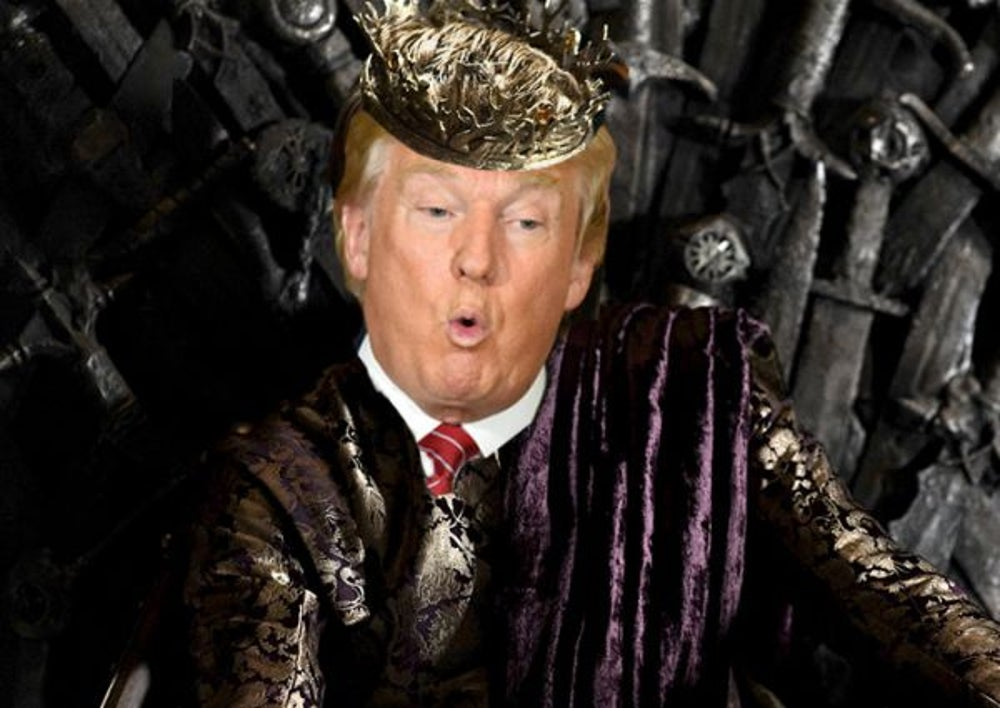 2. Donald Trump as 'King Joffrey Baratheon'