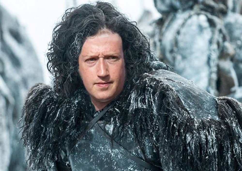 4 .Mark Zuckerberg as 'Jon Snow'