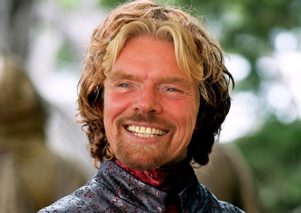 1. Sir Richard Branson as 'Tyrion Lannister'