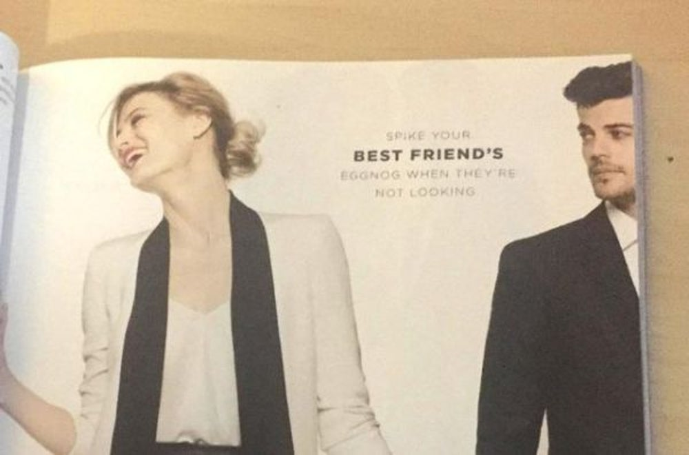 2. Bloomingdale's holiday ad suggesting date rape drug