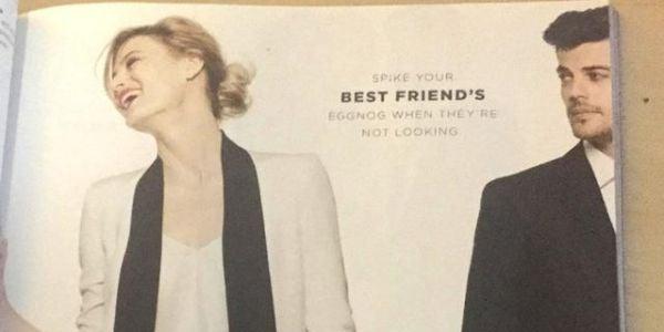 2. Bloomingdale's holiday ad suggesting date rape drug