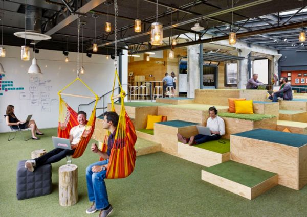 interesting creative office furniture   Office Slides? A Draft Beer Bar? Check Out These 6 ...