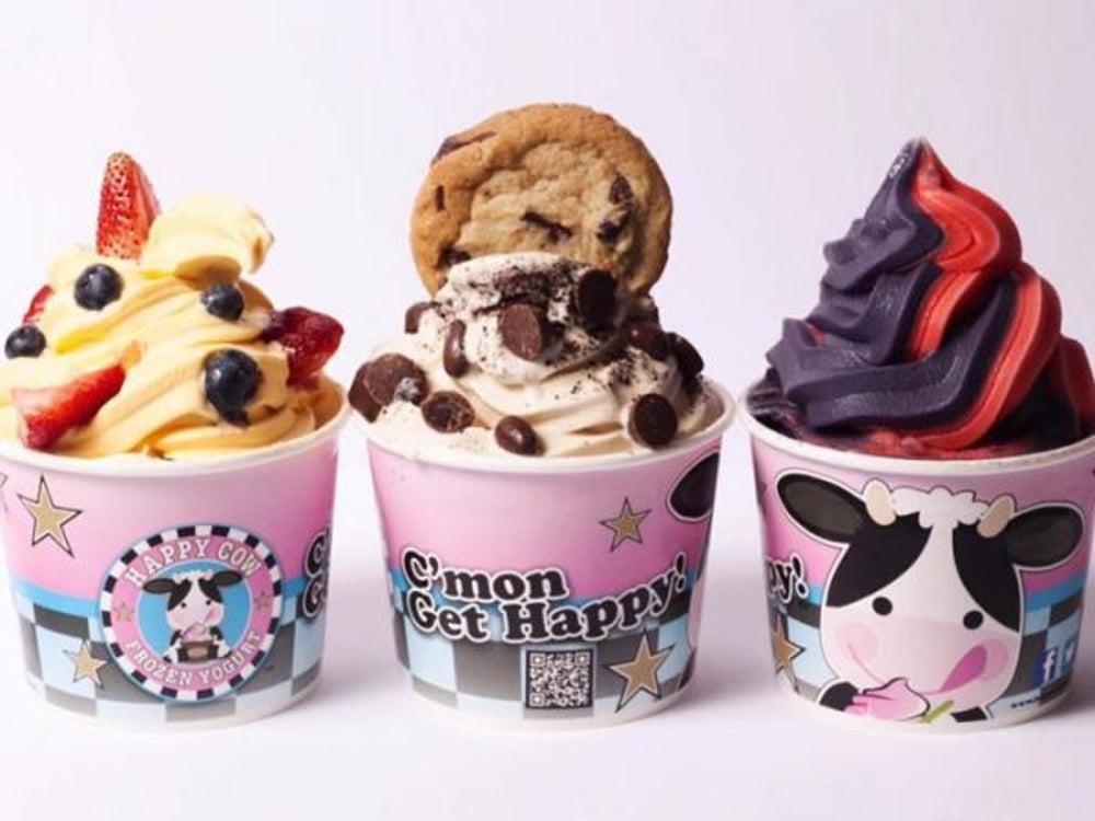 1. Happy Cow Frozen Yogurt