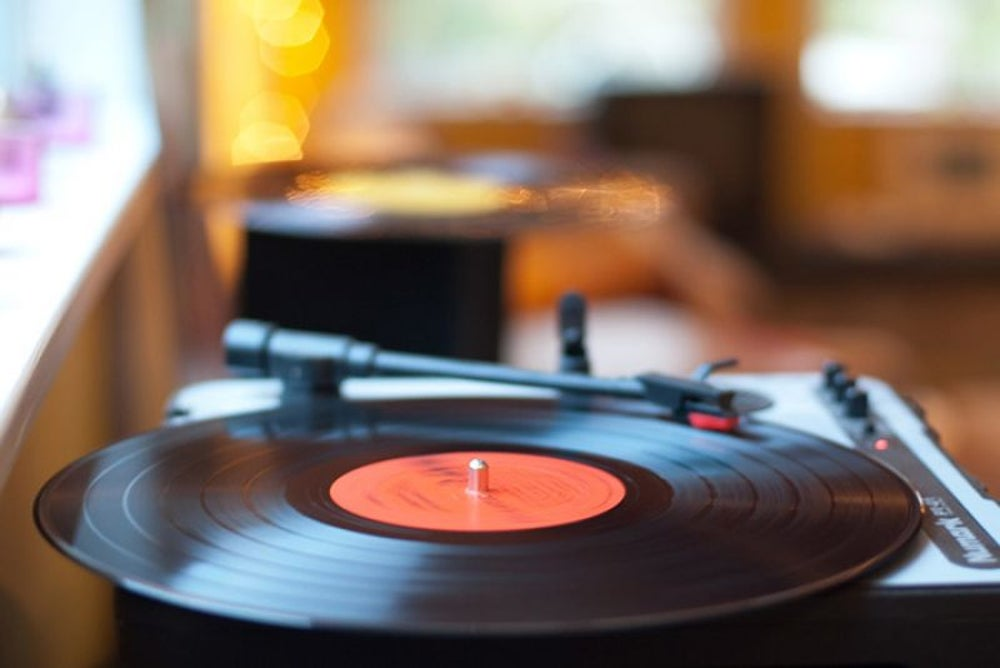 7. You put a glass of water on a record turntable and begin slowly increasing the speed. What happens first? Does the glass slide off or tip over, or does the water splash out?