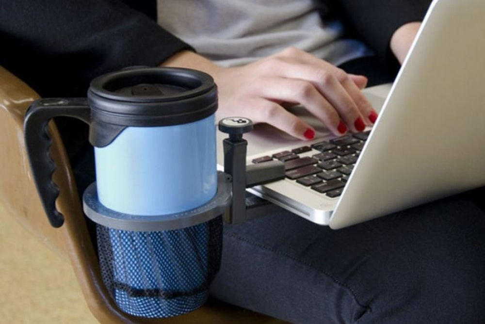 1. Laptop beverage holder