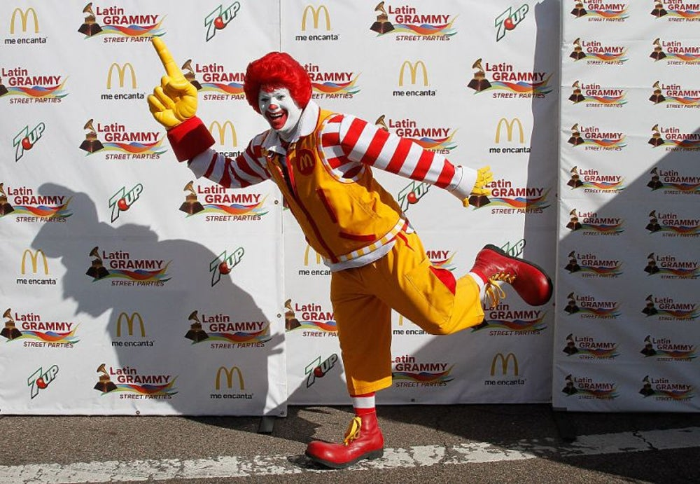 Ronald McDonald is more recognizable than Santa Claus.