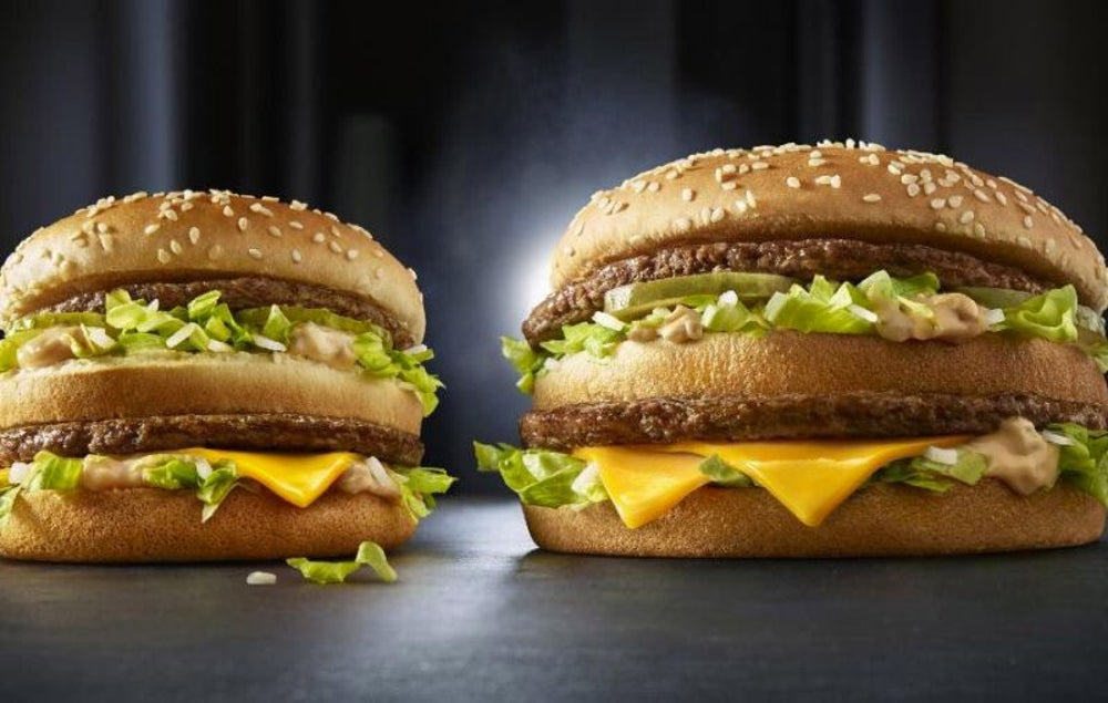 McDonald's once made the Big Mac even bigger.