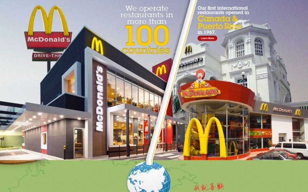 There is a McDonald's in all but 75 countries.