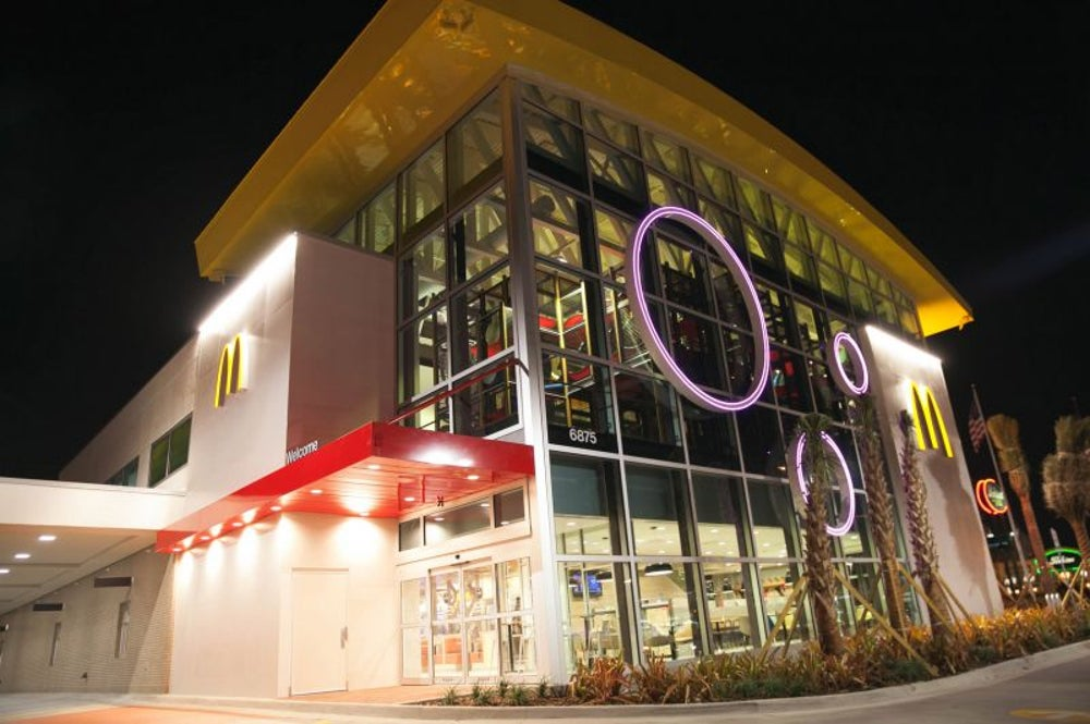 The world's largest McDonald's is in Orlando, Fla.