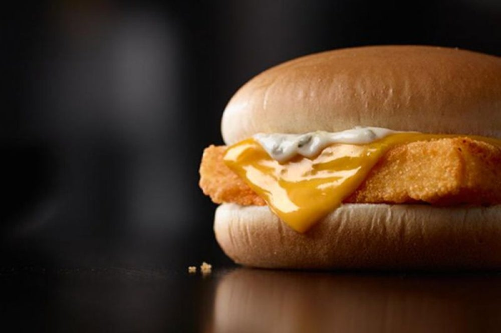 McDonald's sells 25 percent of Filet-O-Fish sandwiches during Lent.