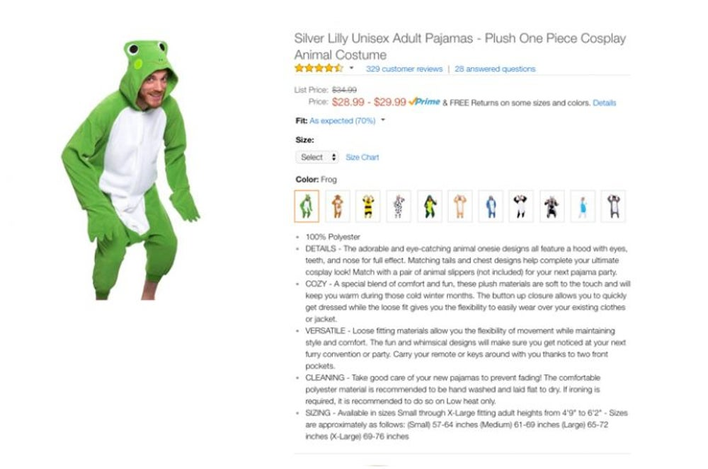 This frog costume, unisex.