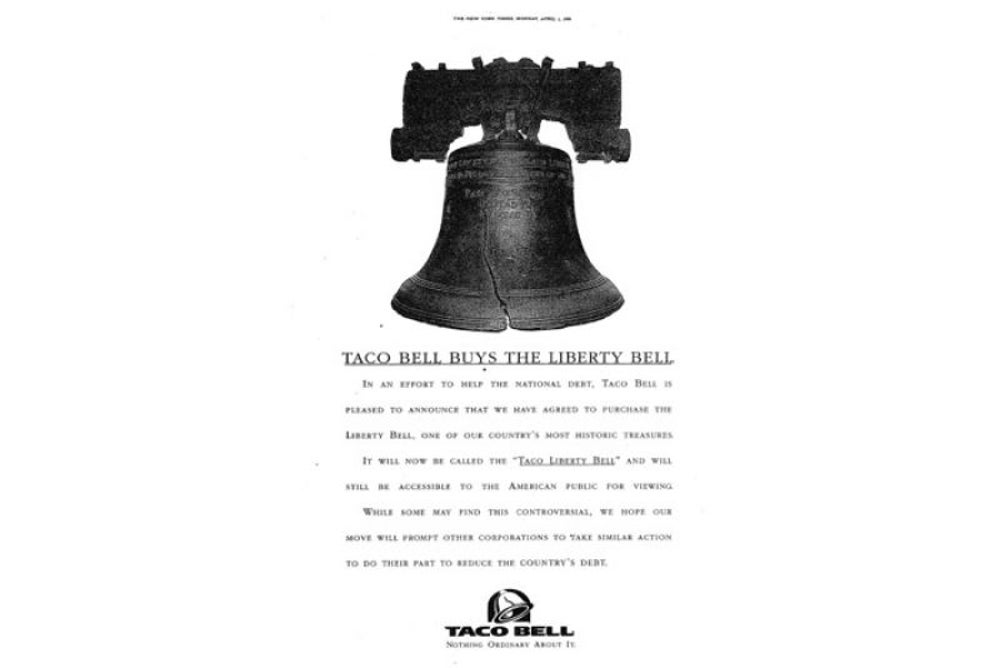 Taco Bell once 'purchased' the Liberty Bell.