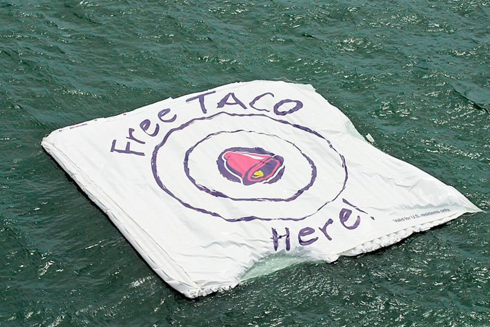 Free tacos were offered if a piece of a space station crashed on a target.