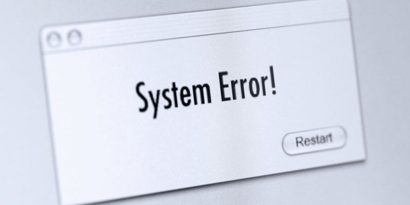 With an error message